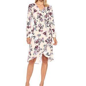 Women Toulouse Long-sleeve Floral Print Wrap Dress